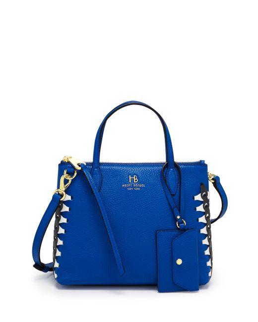 Henri Bendel - Blue Noho Laced Gusset Mini Zip Crossbody - Lyst