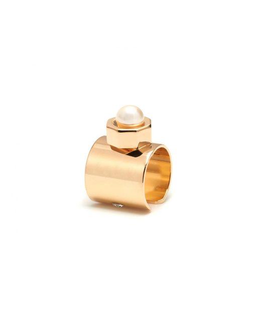 Maria Francesca Pepe | Metallic Ear Cuff With Encased Pearl Gold | Lyst