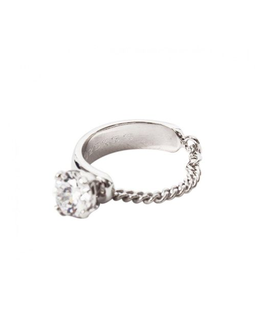 Maison Margiela | Metallic Zircon Chain Ring Silver | Lyst