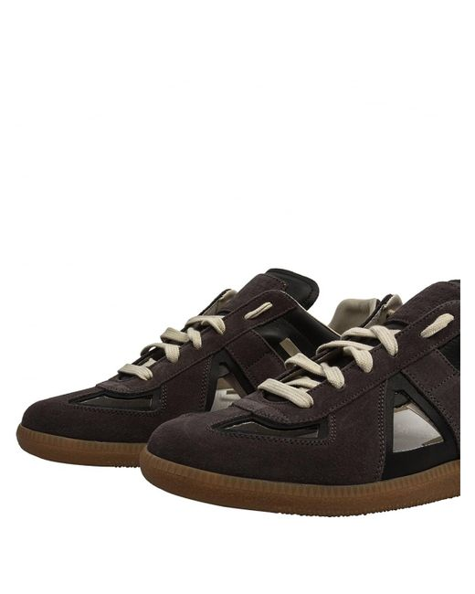cut out Replica sneakers - Brown Maison Martin Margiela