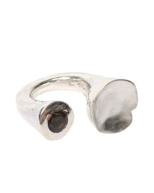 Rosa Maria - Metallic Noufa Quartz Ring Silver - Lyst