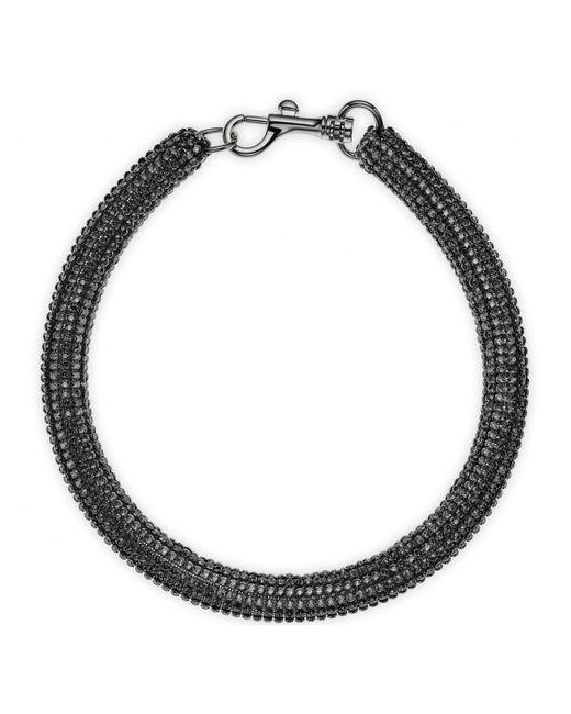 Atelier Swarovski - Metallic Bolster Necklace Jet Hematite - Lyst