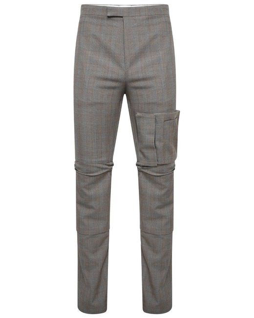 Raf Simons Gray Articulated Knee Wool Pants Grey for men