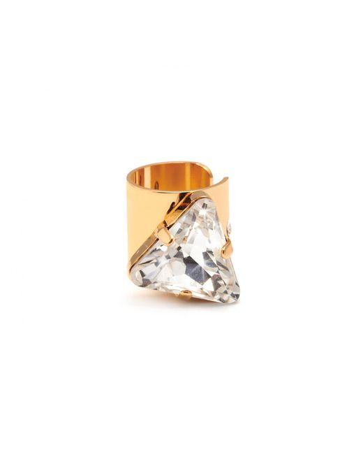 Maria Francesca Pepe | Metallic Triangular Crystal Ear Cuff Gold | Lyst