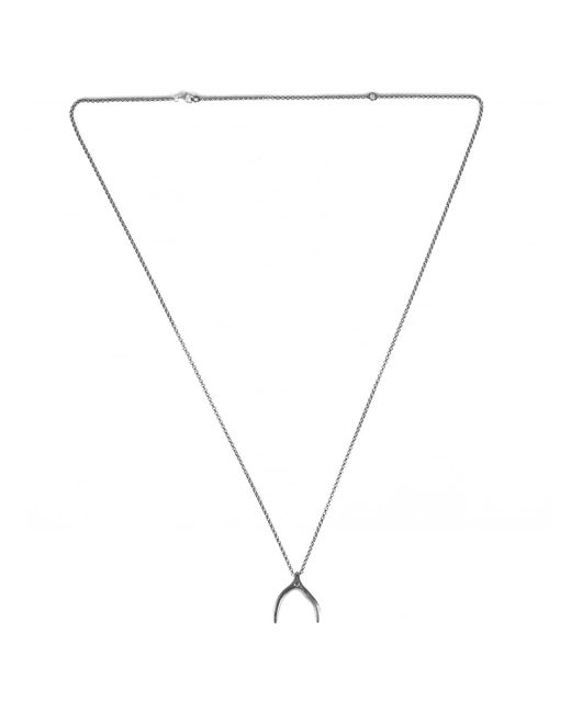 Rosa Maria | Metallic Rosecut Diamond Silver Lucky Bone Chain Necklace | Lyst