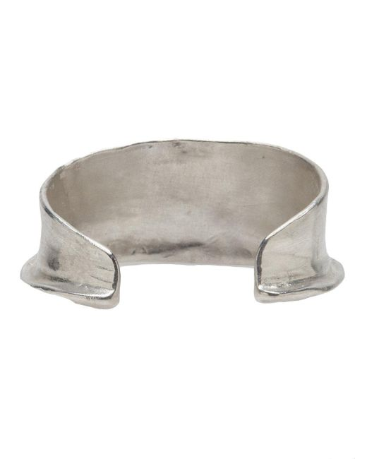 1-100 | Metallic Sterling Silver Curved Tip Cuff | Lyst