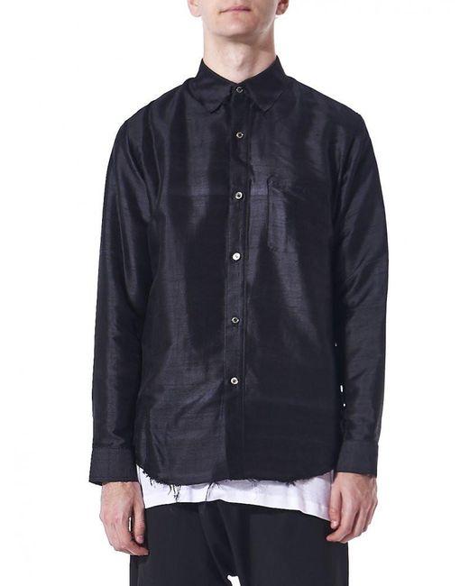 Christian Dada   Blue Distressed Hem Button-up Shirt for Men   Lyst