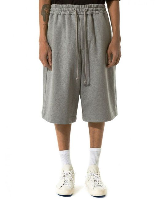 Juun.J | Gray Embroidered Shorts for Men | Lyst