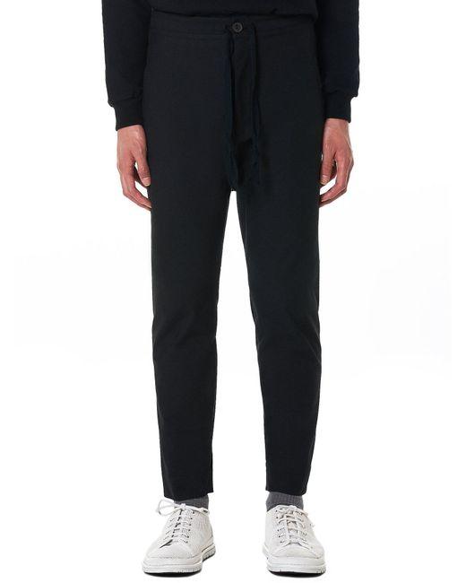 Jan Jan Van Essche - Black Single-piece Buff Cotton Trousers for Men - Lyst