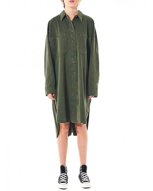 Faith Connexion   Green Button Up Shirt Dress   Lyst