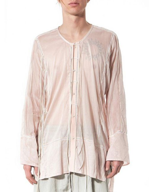 Di Liborio | Pink Sheer Buttoned Nightgown | Lyst