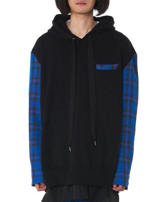 Kidill - Blue Check Hooded Pullover for Men - Lyst