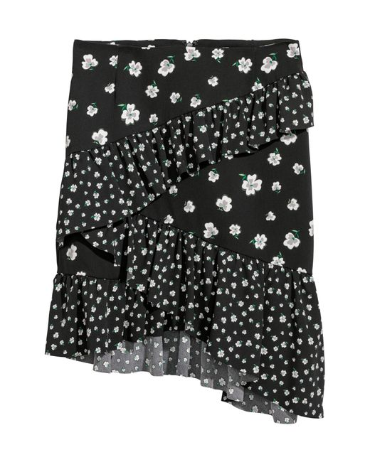 H&M Black Short Flounced Skirt