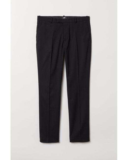 1e0d9dab1cd062 H&M Suit Pants Skinny Fit in Black for Men - Lyst
