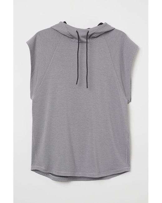 75af8a8715594 H M Sleeveless Hooded Top in Gray for Men - Lyst