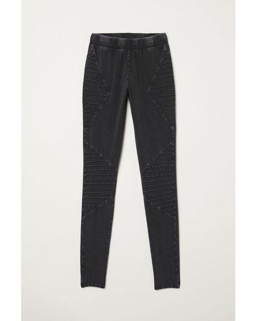 a59fba2eccf77 H&M Jersey leggings in Gray - Lyst