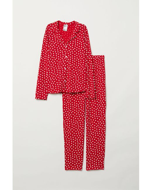 H&M - Red Patterned Pyjamas - Lyst