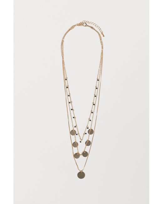 H&M - Metallic Triple-strand Necklace - Lyst