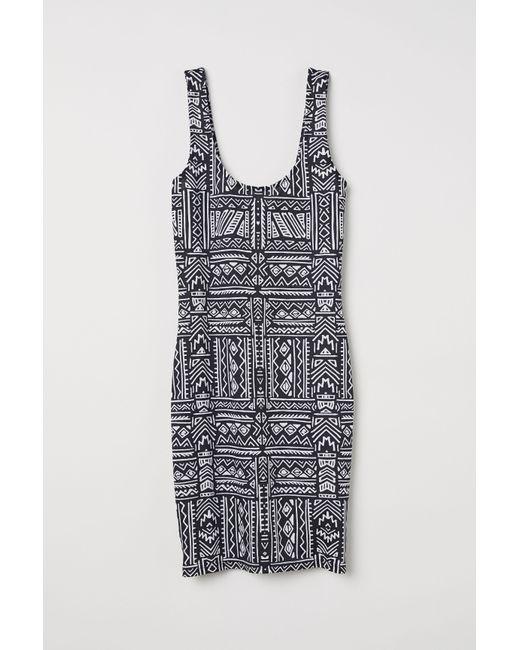 97a2dc116867d Lyst - H M Sleeveless Jersey Dress in Black
