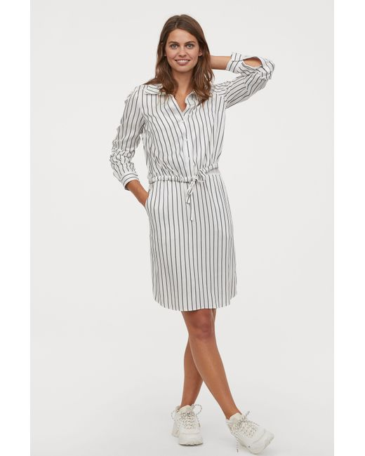 65e7b1c6f9b7d H&M - White Mama Nursing Dress - Lyst ...