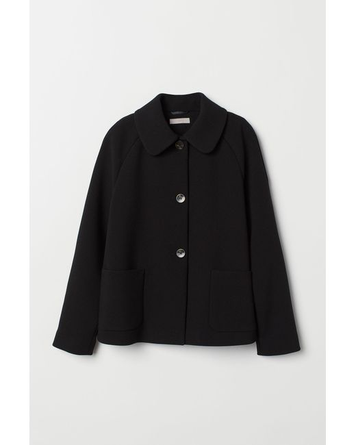 H&M Black A-line Jacket