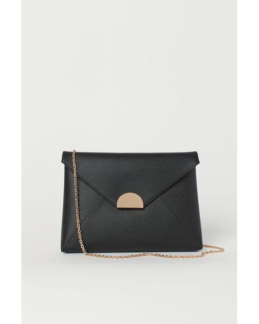 H&M Black Large Clutch Bag