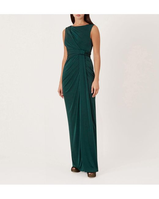 c3faf607f6 Hobbs Green 'mia' Cowl Neck Maxi Dress in Green - Save 54% - Lyst
