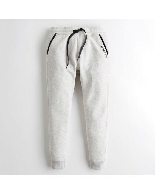 Hollister - Gray Guys Skinny Fleece Jogger Pants From Hollister for Men - Lyst