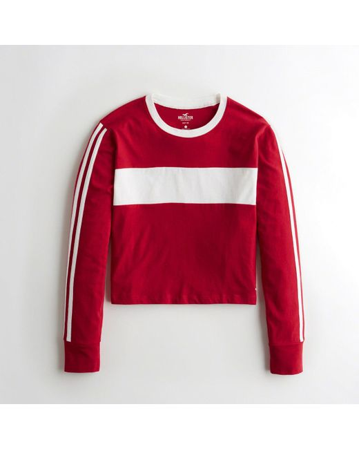 7c8c6a15 Lyst - Hollister Girls Colorblock Crewneck T-shirt From Hollister in Red