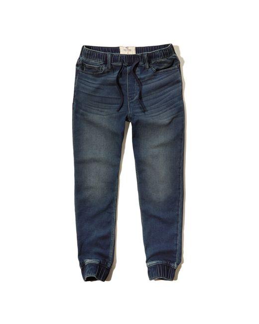 Hollister Jogger Pants in Blue for Men | Lyst
