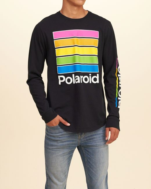 Hollister Polaroid Graphic Tee In Black For Men Lyst