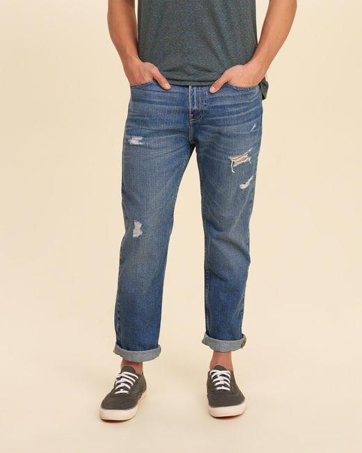 Hollister Vintage Straight Jeans in Blue for Men   Lyst