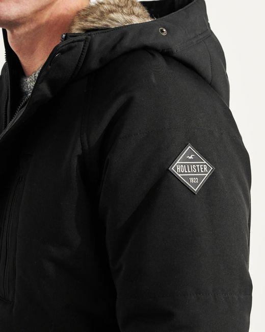 Hollister Down Parka in Black for Men - Save 30% | Lyst