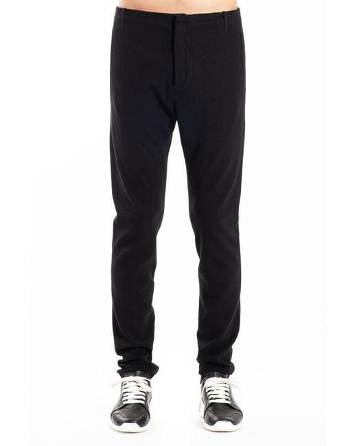 Label Under Construction - Black Slim Fit Pant for Men - Lyst