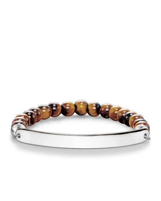 Thomas Sabo - Brown Love Bridge Tiger`s Eye Bracelet - Lyst