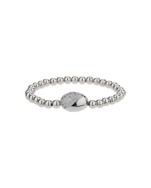 Mikey - Metallic Twin Crystal Oval Bead Bracelet - Lyst