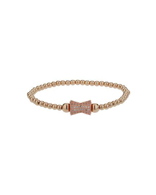 Mikey - Metallic Crystal Dumbell Bead Bracelet - Lyst
