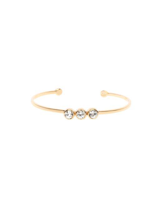 Karen Millen - Metallic Crystal Dot Cuff - Gold Col - Lyst
