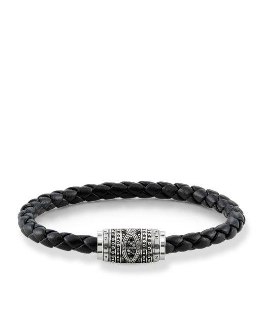 Thomas Sabo   Black Infinity Unity Bracelet for Men   Lyst