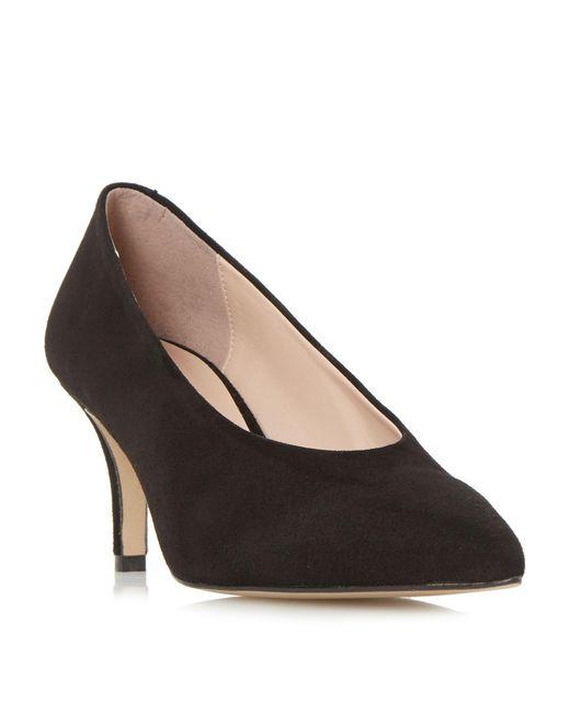 Dune - Black Amorrell Hight Vamp V Cut Court Shoes - Lyst