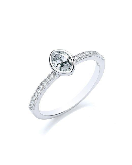 Bouton - Metallic Stacker Ring Navette - Lyst