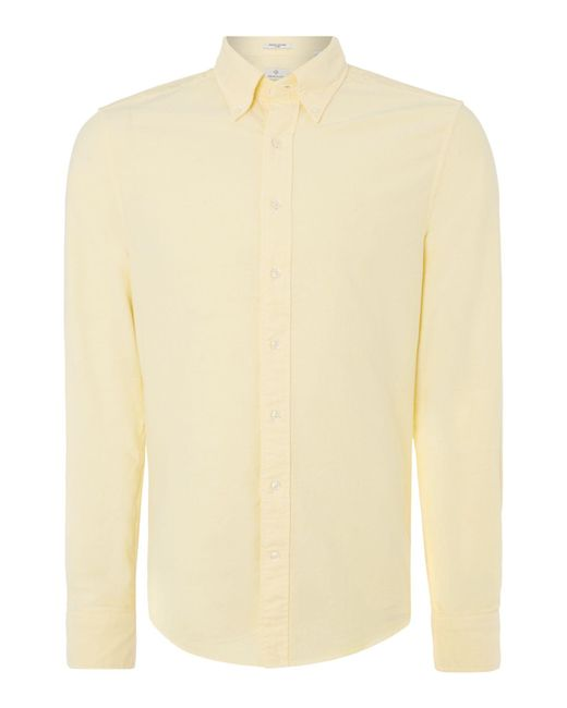 Gant - Yellow Diamond G Fully Fitted Perfect Oxford Shirt for Men - Lyst