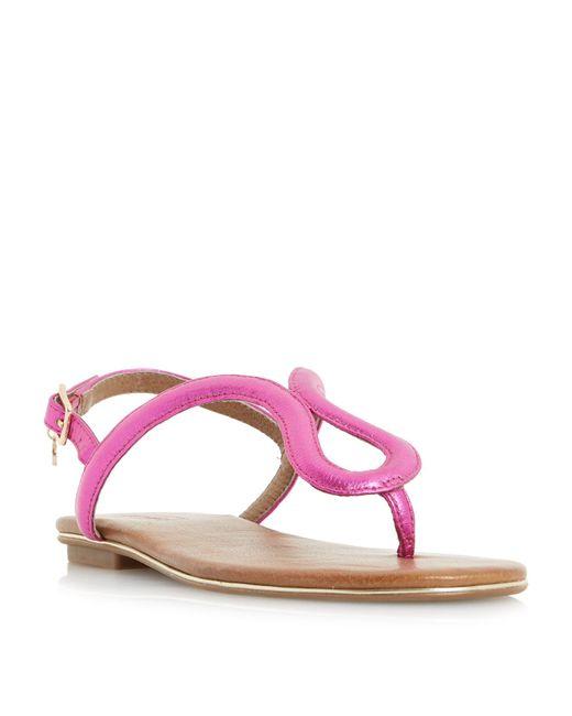 Dune | Purple Lexy Loop Toe Post Flat Sandals | Lyst