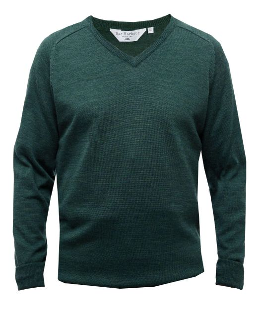 Double Two | Green Men's King Size V Neck Sweater for Men | Lyst
