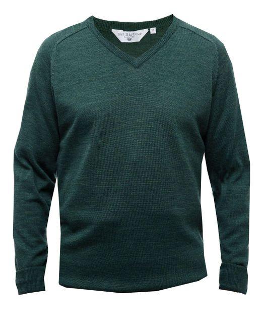 Double Two - Green Men's Long Sleeved V Neck Sweater for Men - Lyst
