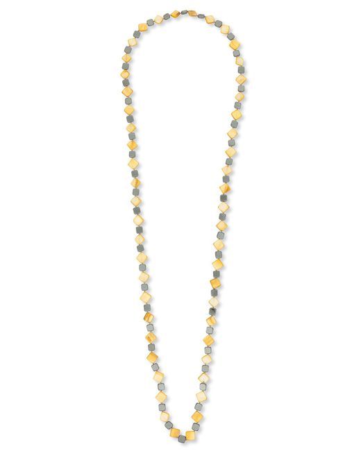 East | Orange Small Square Bead Necklace | Lyst