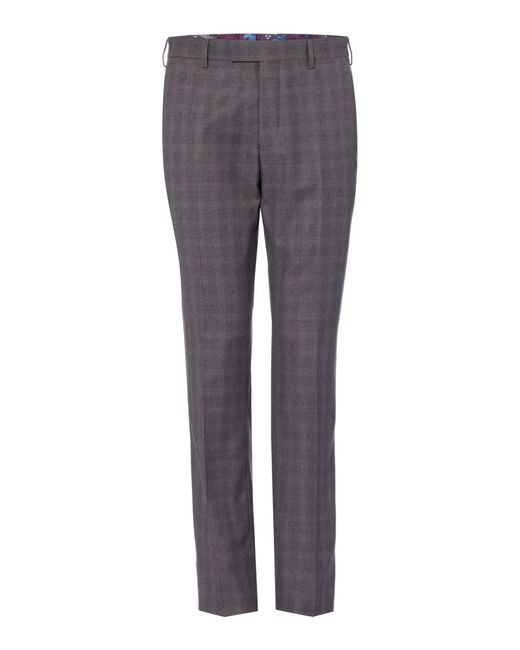 Ted Baker - Gray Men's Ariste Slim Fit Sterling Check Suit Trousers for Men - Lyst