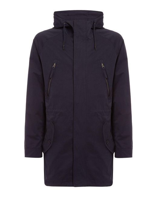 Criminal - Blue Men's Greenfield Parka for Men - Lyst