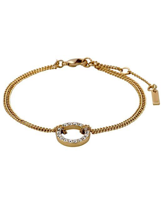 Pilgrim - Metallic Gold Beautiful & Simple Bracelet - Lyst