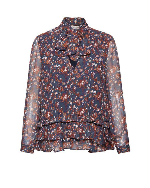 Great Plains | Red Highland Floral Frilled Blouse | Lyst
